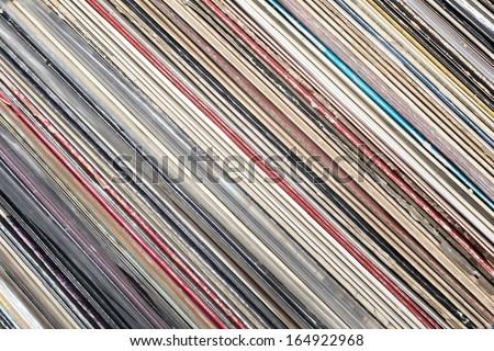 Row of vinyl records - stock photo