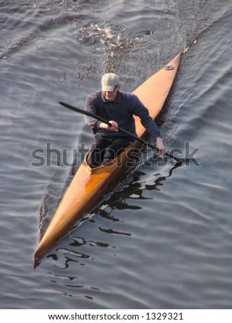rowing - stock photo