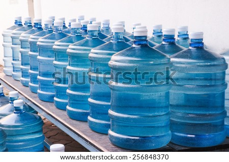 Rows of Big Bottle of Drinking Water Supply#2 - stock photo