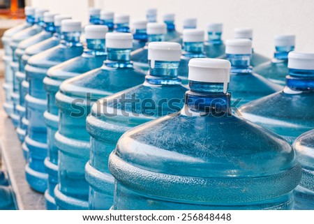 Rows of Big Bottle of Drinking Water Supply#4 - stock photo