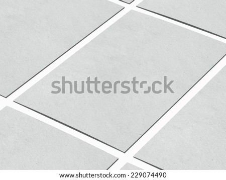 Rows of business cards - stock photo