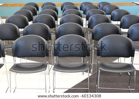 Rows of chairs - stock photo