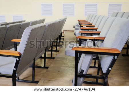 Rows of chairs in the hall  - stock photo