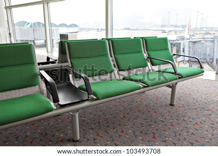 rows of empty seats - stock photo