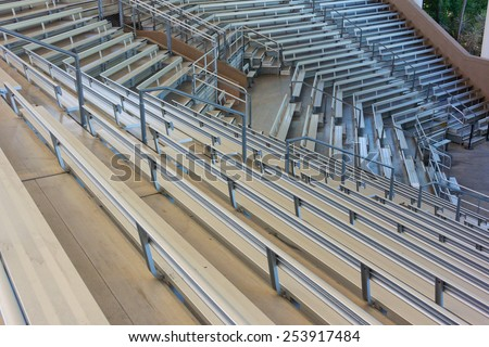 Rows of empty seats in an outdoor amphitheater - stock photo