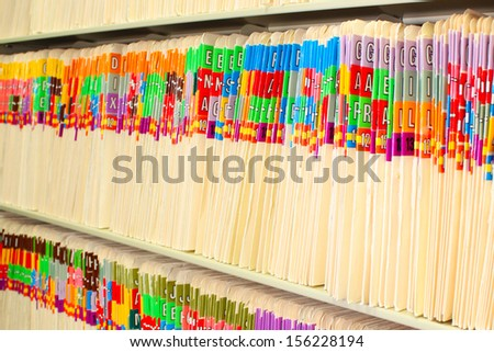 Rows of files - stock photo