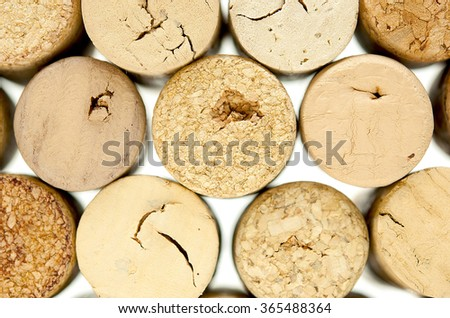 Rows of wine corks