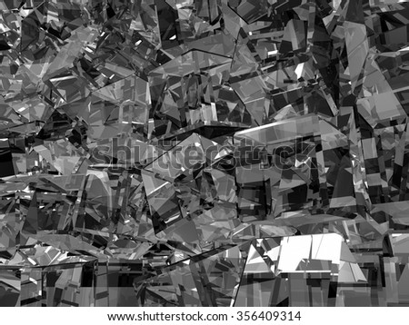 Rows rotating gray glass cubes - stock photo
