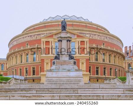 Royal Albert Hall concert room in London UK - stock photo