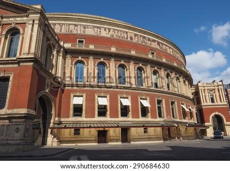 Royal Albert Hall concert room in London, UK - stock photo