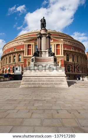 Royal Albert Hall in London. It is a concert hall in South Kensington. - stock photo