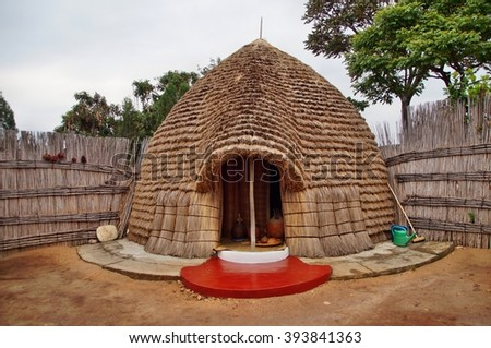 Royal beer brewer's hut at Rukali, Nyanza, Rwanda