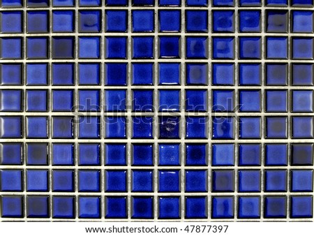 royal blue ceramic  mosaic tiles