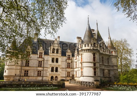Royal castle of d'Azay-le-Rideau, Loire Valley, France