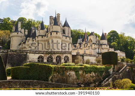 Royal castle of d'Usse, Loire Valley, France - stock photo