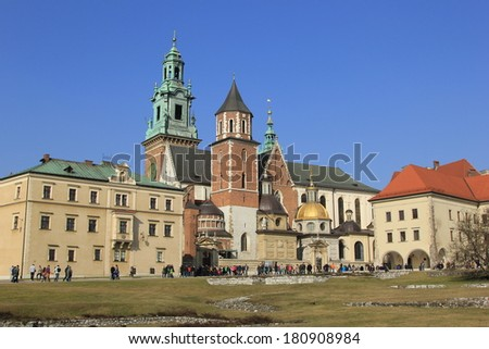 Royal Castle on Wawelu.Poland - stock photo