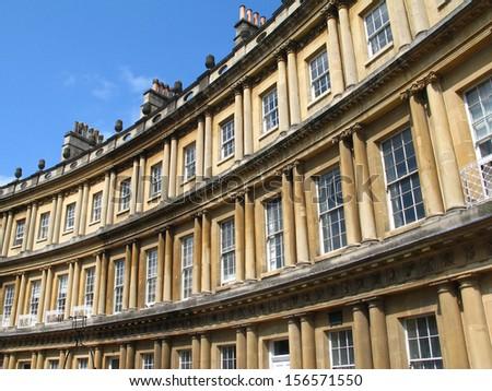 Royal Circus buildings in Bath, England - stock photo