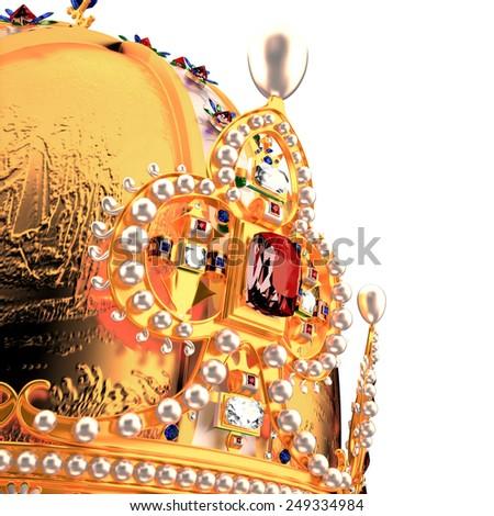 Royal Crown on white background - stock photo
