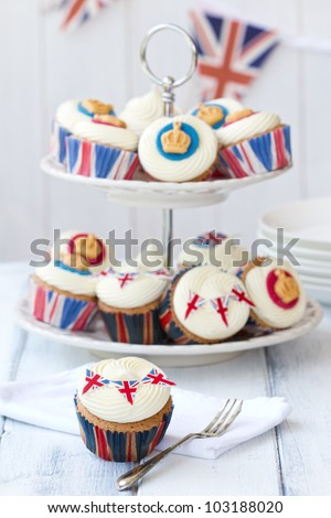 Royal cupcakes - stock photo