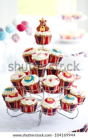 Royal cupcakes - stock photo