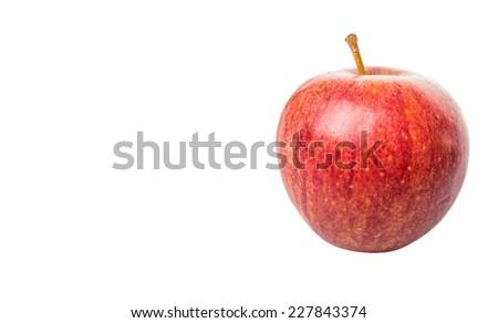 Royal gala apple on white background  - stock photo