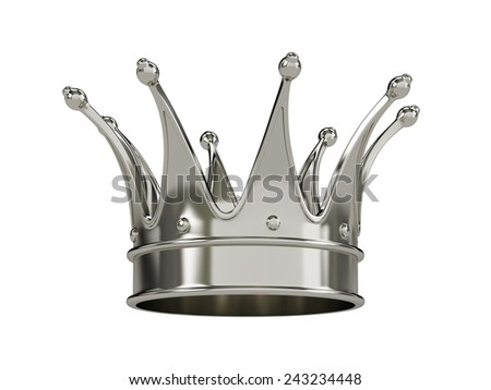 Royal gold crown isolated on white background  - stock photo