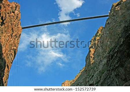 Royal Gorge Bridge - view from the bottom of the canyon