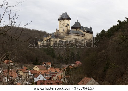 Royal gothic castle Karlstejn near Prague, Czech republic