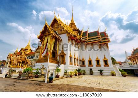 Royal grand palace in Bangkok. - stock photo