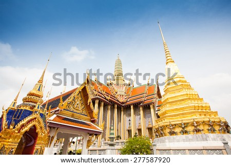 Royal grand palace in Bangkok city, Thailand - stock photo
