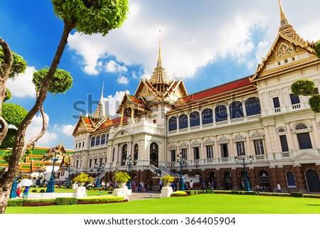 Royal grand palace in Bangkok,Thailand  - stock photo