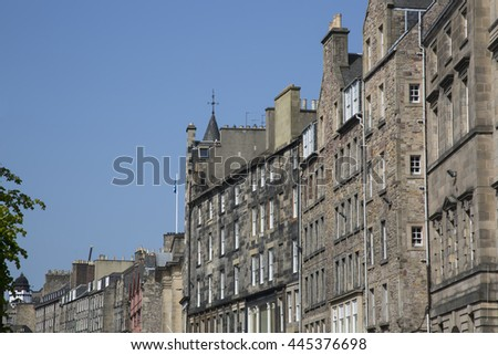 Royal Mile Street Buildings; Edinburgh; Scotland