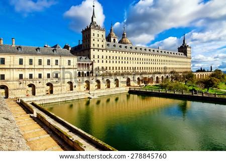 Royal Monastery in San Lorenzo El Escorial, Madrid, Spain - stock photo
