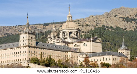 Royal Monastery of San Lorenzo de El Escorial, Madrid, Spain.