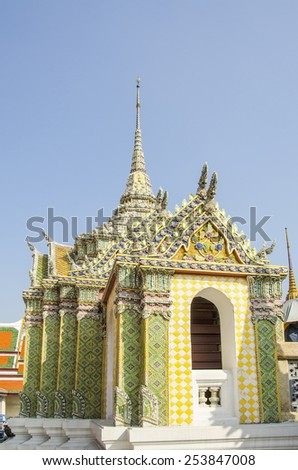 Royal Palace and Wat Phra Kaeo Complex in Bangkok, Thailand - stock photo