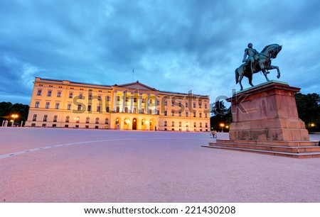 Royal palace in Oslo, Norway - stock photo