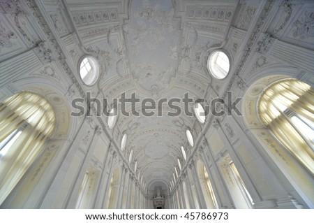 royal palace Reggia di Venaria - Turin - stock photo