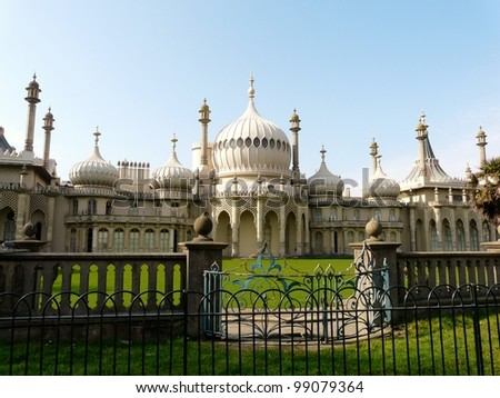 Royal Pavilion, built by King George IV, in Brighton, England - stock photo