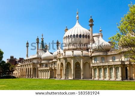 Royal Pavilion in Brighton, England - stock photo