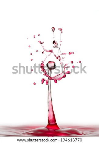Royal splash - stock photo