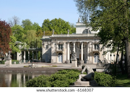 Royal summer residence in Lazienki Park. Warsaw, Poland - stock photo