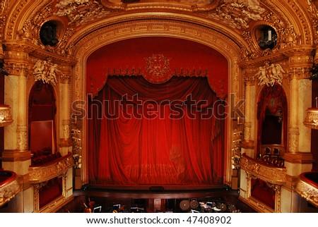 Royal Swedish Opera in Stockholm, interior - stock photo