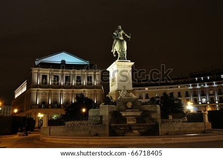 Royal Teatre of Madrid - stock photo