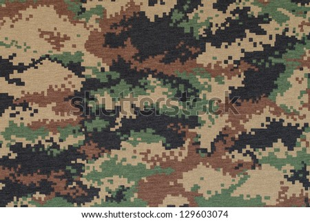 Royal thai marine  digital woodland camouflage fabric texture background - stock photo