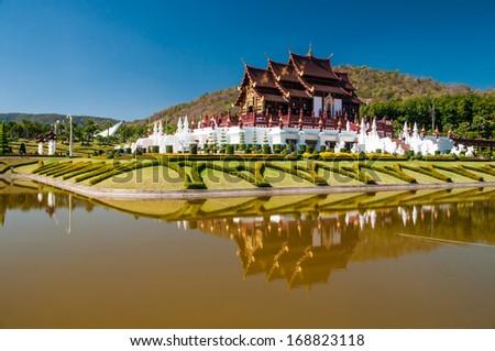 Royal Thai Pavilion ,Chiang Mai, Thailand - stock photo