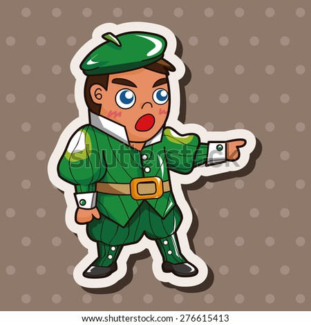 Royal theme prince , cartoon sticker icon