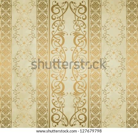 Royal vintage damask background - stock photo