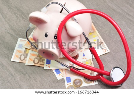 Royalty accounting in health care - stock photo