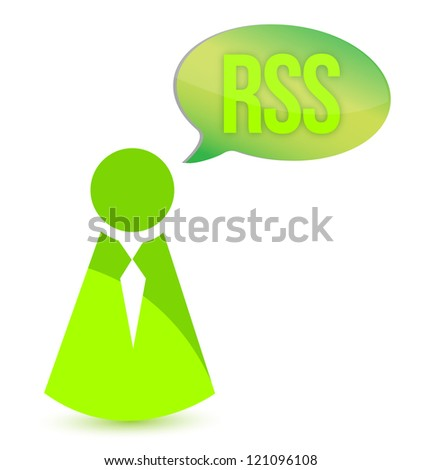 RSS concept illustration design over a white background - stock photo