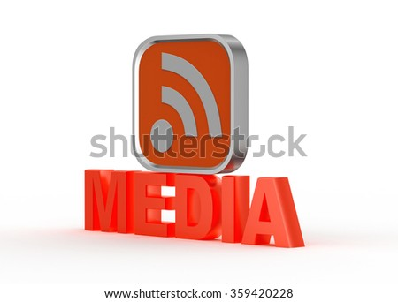Rss icon - stock photo